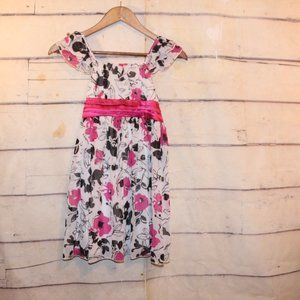 Girls Size 7 George Floral Lined Sundress EUC